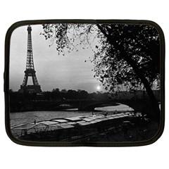 Vintage France Paris Eiffel tour & Seine at dusk 1970 13  Netbook Case
