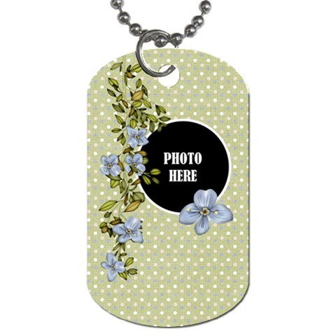 Time For Spring Dog Tag 3 By Lisa Minor   Dog Tag (one Side)   60knspkly1bc   Www Artscow Com Front