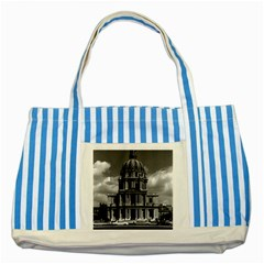 Vintage France Paris Church Saint Louis Des Invalides Blue Striped Tote Bag