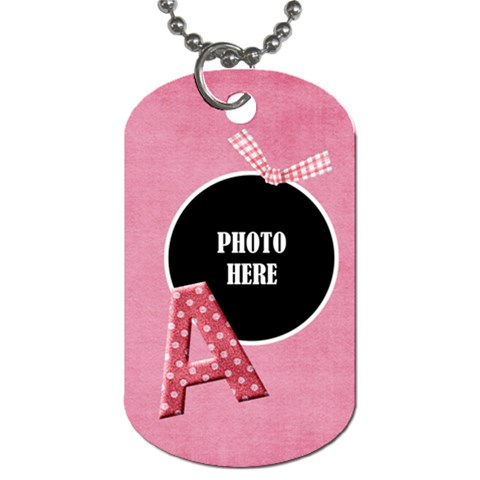 Sweetie Alphabet Tag 1 By Lisa Minor   Dog Tag (one Side)   Ldmnd41cqg42   Www Artscow Com Front