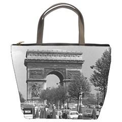 Vintage France Paris Triumphal arch 1970 Bucket Handbag by Vintagephotos
