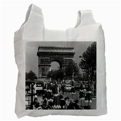 Vintage France Paris Triumphal Arch 1970 Twin Sided Reusable Shopping Bag by Vintagephotos