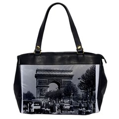 Vintage France Paris Triumphal Arch 1970 Single Sided Oversized Handbag