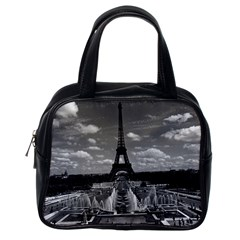 Vintage France Paris Fontain Chaillot Tour Eiffel 1970 Single Sided Satchel Handbag
