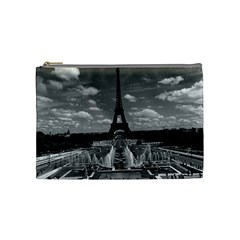 Vintage France Paris Fontain Chaillot Tour Eiffel 1970 Medium Makeup Purse by Vintagephotos