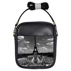 Vintage France Paris Fontain Chaillot Tour Eiffel 1970 Kids  Sling Bag by Vintagephotos