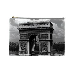 Vintage France Paris Triumphal Arch  Place De L etoile Large Makeup Purse