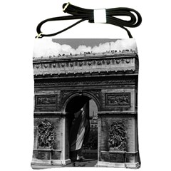 Vintage France Paris Triumphal Arch  Place De L etoile Cross Shoulder Sling Bag by Vintagephotos