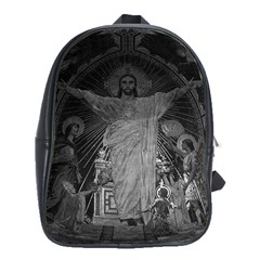 Vintage France Paris Sacre Coeur Basilica dome Jesus Large School Backpack