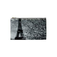 Vintage France Paris Eiffel Tour 1970 Small Makeup Purse