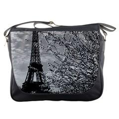Vintage France Paris Eiffel Tour 1970 Messenger Bag by Vintagephotos