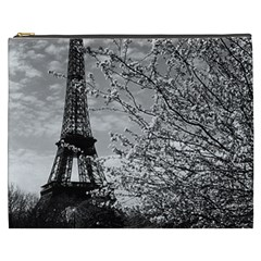 Vintage France Paris Eiffel Tour 1970 Cosmetic Bag (xxxl) by Vintagephotos