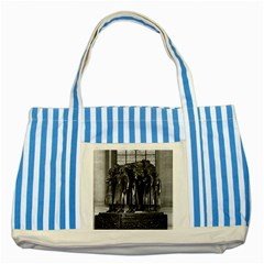 Vintage France Paris  Invalides Marshal Foch Tomb 1970 Blue Striped Tote Bag by Vintagephotos