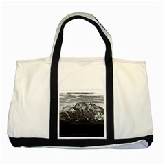 Vintage USA Alaska Beautiful Mt Mckinley 1970 Two Toned Tote Bag
