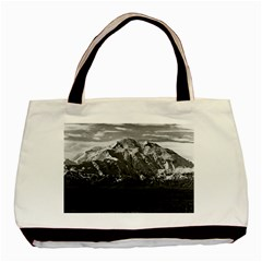 Vintage USA Alaska Beautiful Mt Mckinley 1970 Twin-sided Black Tote Bag