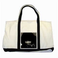 Vintage Usa Alaska Eskimo Child 1970 Two Toned Tote Bag by Vintagephotos