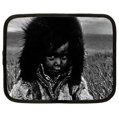 Vintage Usa  Alaska Eskimo Boy 1970 12  Netbook Case by Vintagephotos