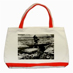 Vintage Alaska Eskimo Blanket Tossing 1970 Red Tote Bag by Vintagephotos