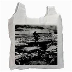 Vintage Alaska Eskimo Blanket Tossing 1970 Twin Sided Reusable Shopping Bag by Vintagephotos