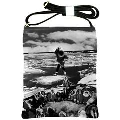 Vintage Alaska Eskimo Blanket Tossing 1970 Cross Shoulder Sling Bag by Vintagephotos