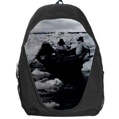 Vintage Usa Alaska Eskimo Hunters 1970 Backpack Bag