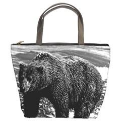 Vintage Usa Alaska Brown Bear 1970 Bucket Handbag