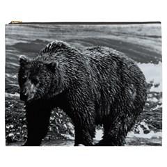 Vintage Usa Alaska Brown Bear 1970 Cosmetic Bag (xxxl) by Vintagephotos