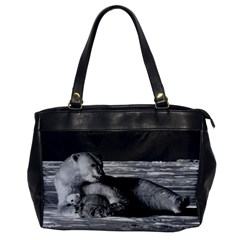 Vintage Usa Alaska Mother Polar Bear 1970 Single Sided Oversized Handbag by Vintagephotos