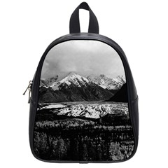 Vintage Usa Alaska Matanuska Clacier 1970 Small School Backpack by Vintagephotos