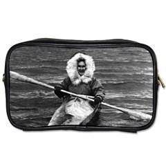 Vintage Usa Alaska Eskimo And His Kayak 1970 Single Sided Personal Care Bag