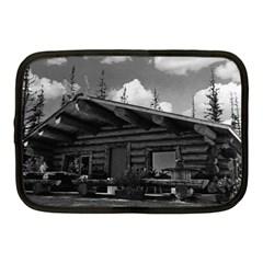 Vintage Usa Alaska Modern Alaskan Log Cabin 1970 10  Netbook Case by Vintagephotos