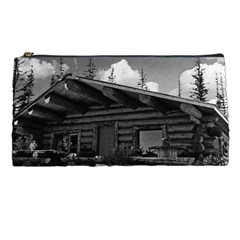 Vintage Usa Alaska Modern Alaskan Log Cabin 1970 Pencil Case