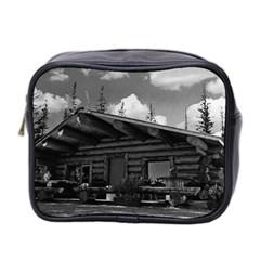 Vintage Usa Alaska Modern Alaskan Log Cabin 1970 Twin Sided Cosmetic Case by Vintagephotos