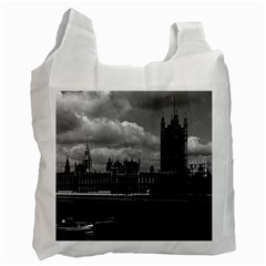 Vintage Uk England London The Houses Of Parliament 1970 Twin Sided Reusable Shopping Bag