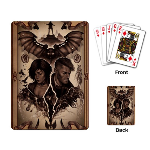 Bioshock Infinite By Jack Holmes   Playing Cards Single Design   6qm211p27i47   Www Artscow Com Back