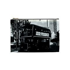 Vintage Uk England London Double Decker Bus 1970 Medium Makeup Purse by Vintagephotos