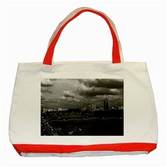 Vintage Uk England London The River Thames 1970 Red Tote Bag by Vintagephotos