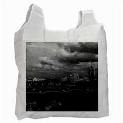 Vintage UK England London The River Thames 1970 Single-sided Reusable Shopping Bag