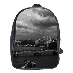 Vintage UK England London The River Thames 1970 Large School Backpack by Vintagephotos