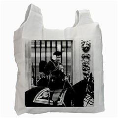 Vintage Uk England  Queen Elizabeth 2 Buckingham Palace Twin Sided Reusable Shopping Bag by Vintagephotos