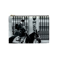 Vintage Uk England  Queen Elizabeth 2 Buckingham Palace Medium Makeup Purse by Vintagephotos