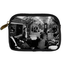 Vintage Uk  England Railway Inside Coach 1970 Compact Camera Case by Vintagephotos