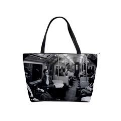 Vintage Uk  England Railway Inside Coach 1970 Large Shoulder Bag by Vintagephotos