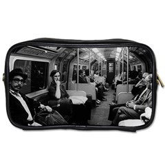 Vintage Uk  England Railway Inside Coach 1970 Twin Sided Personal Care Bag by Vintagephotos