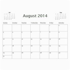 Family Calendar 2014 Updated By Meagan   Wall Calendar 11  X 8 5  (12 Months)   Upujk8ca87cf   Www Artscow Com Aug 2014