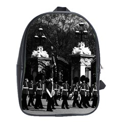 Vintage England London Changing Guard Buckingham Palace School Bag (xl) by Vintagephotos