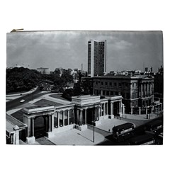 Vintage Uk England London Hyde Park Corner Hilton 1970 Cosmetic Bag (xxl) by Vintagephotos