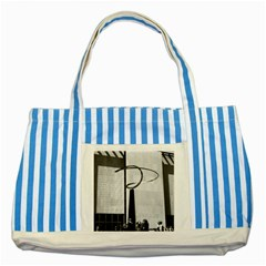 Vintage Usa Washington History & Technology Museum 1970 Blue Striped Tote Bag by Vintagephotos