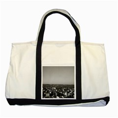 Vintage Usa Washington City Overview 1970 Two Toned Tote Bag by Vintagephotos