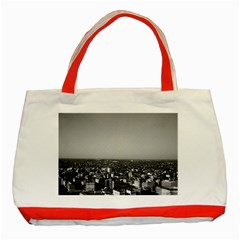 Vintage Usa Washington City Overview 1970 Red Tote Bag